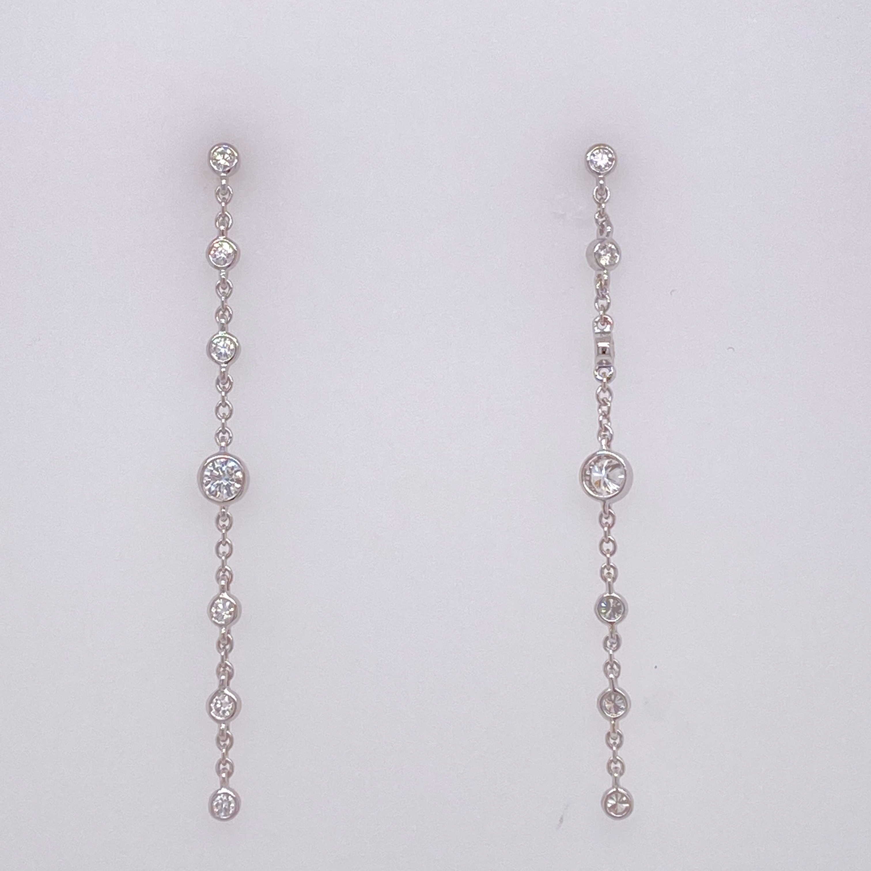 White Gold and Diamond Drop Earrings