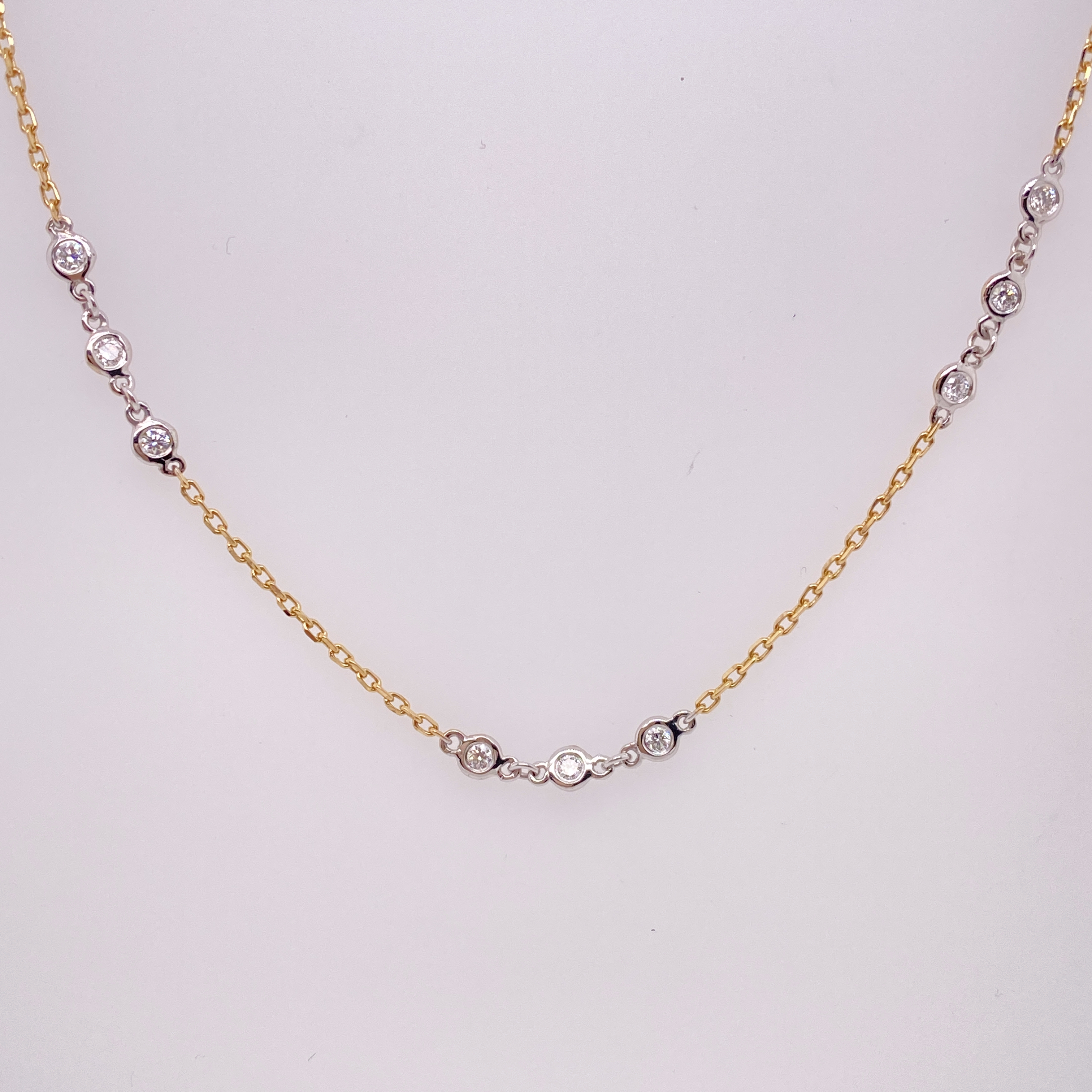 White and Yellow Gold Diamond Necklace