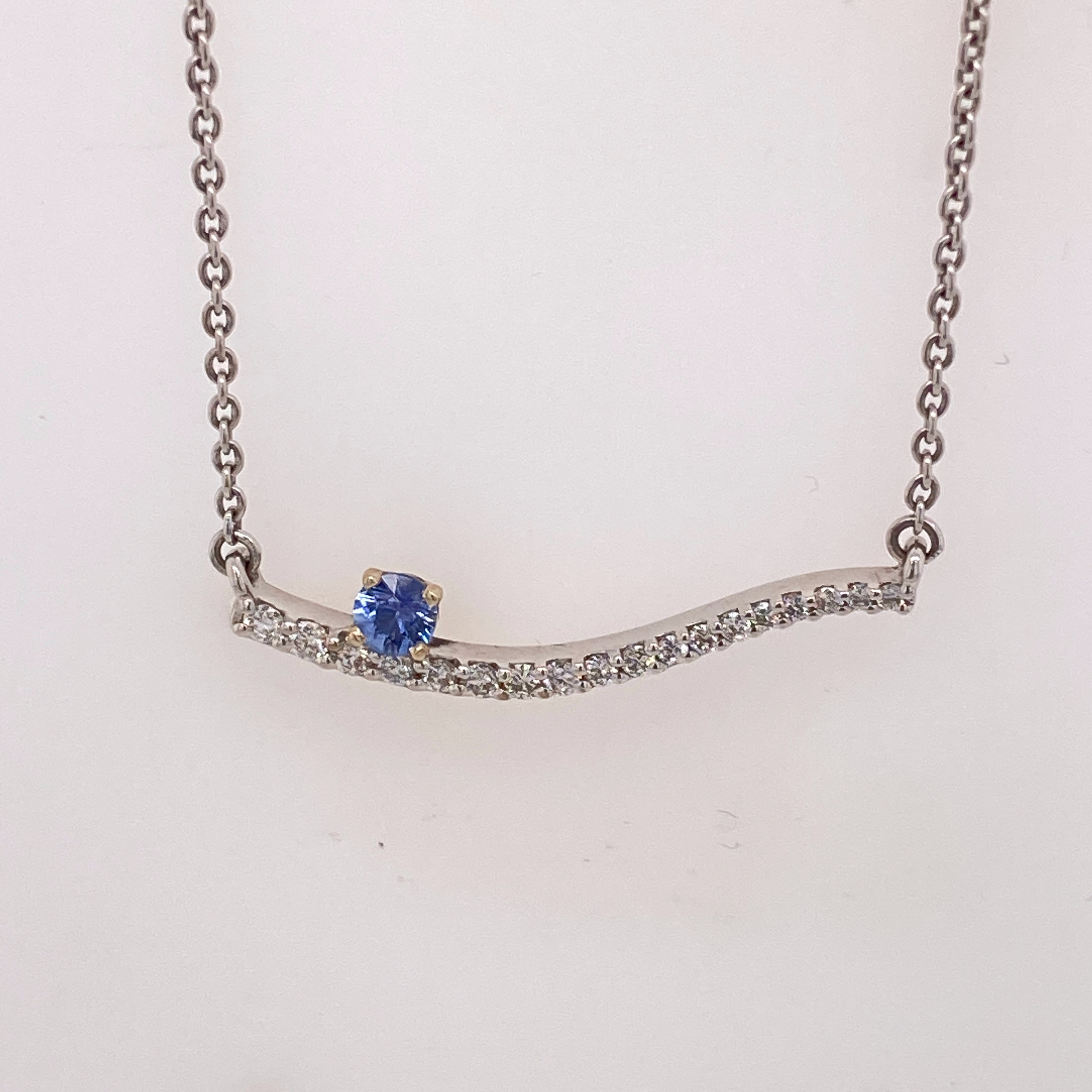 Yogo Sapphire and Diamond Journey Necklace