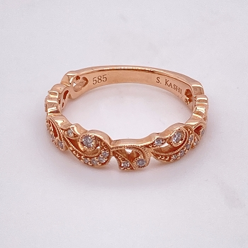 Rose Gold and Diamond Band