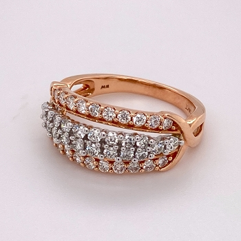 Rose Gold and Diamond Anniversary Band