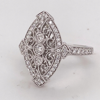 Vintage Style Diamond Fashion Ring