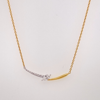 White and Yellow Gold Diamond Pendant