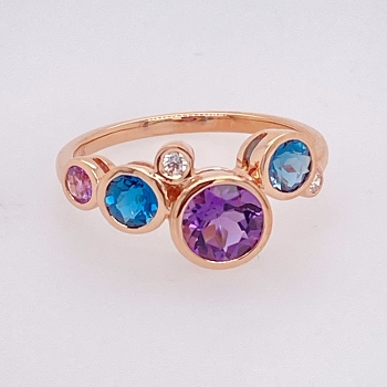 Rose Gold Bubble Ring