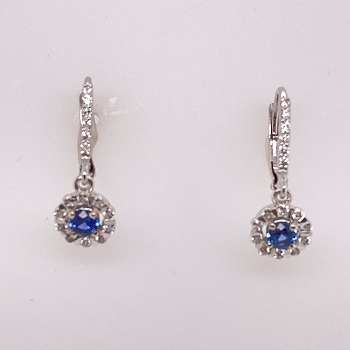 Montana Sapphire and Diamond Earrings