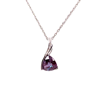 Alexandrite and Diamond Pendant