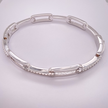 Sterling Silver and Cubic Zirconium Bracelet