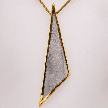 Sterling Silver and Gold Overlay Necklace