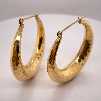 24 Karat Gold Hoop Earrings