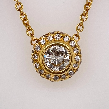 18 Karat Gold and Diamond Pendant